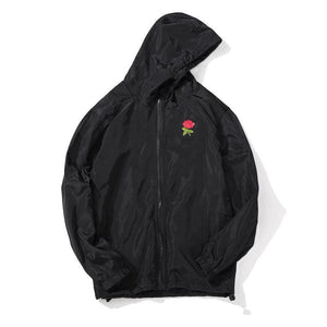 Rose Windbreaker Jacket