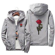 Load image into Gallery viewer, Rose Windbreaker Jacket - Gray / Us Xs