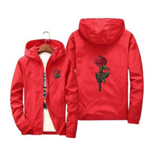 Load image into Gallery viewer, Rose Windbreaker Jacket - Red / Us Xs