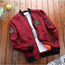 Load image into Gallery viewer, Sgt Bomber Jacket - Red / Asia Xl / Us M