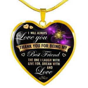 To My Love - Heart Necklace - Luxury Necklace (Gold) / No - Jewelry