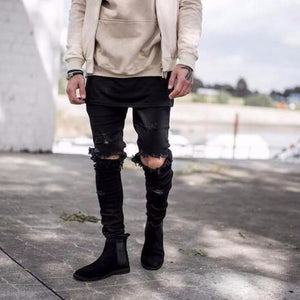 West Skinny Jeans - Black / 28