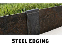 Steel Edging Rusted