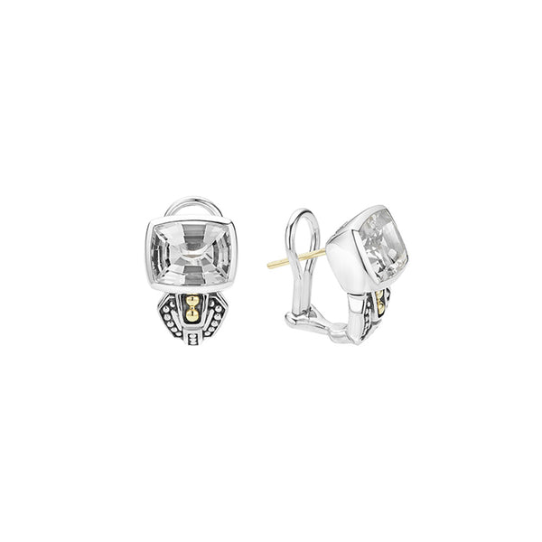 Lagos - SS/18K YG Caviar Color White Topaz Earrings, 01-81515-F