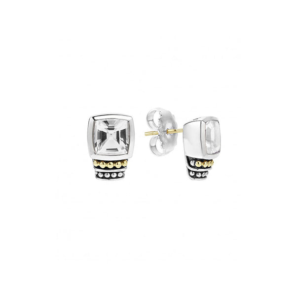 Lagos - SS/18k WG Caviar Color White Topaz Earrings, 01-81516-F
