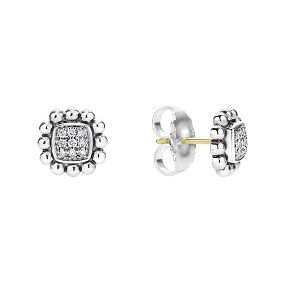 Lagos - SS Caviar Spark 0.16ctw Diamond Earrings, 01-81565-DD