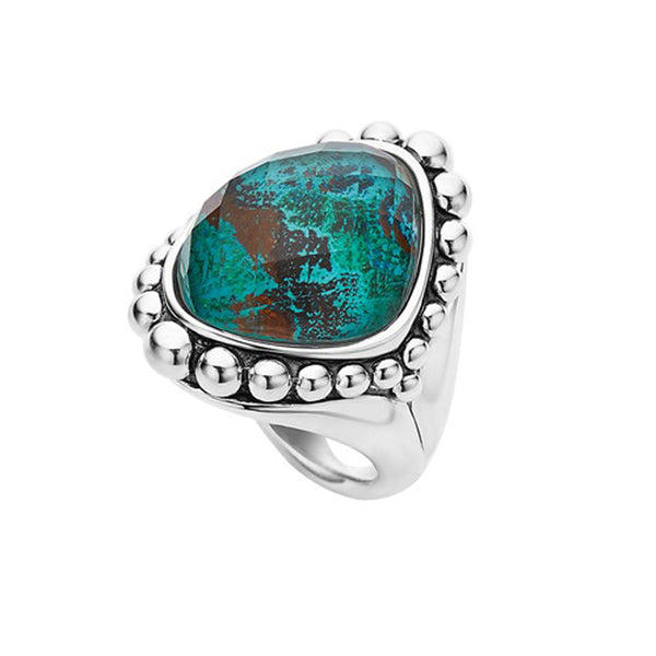 Lagos - SS Maya Chrysocolla Ring, 02-80491-CO7