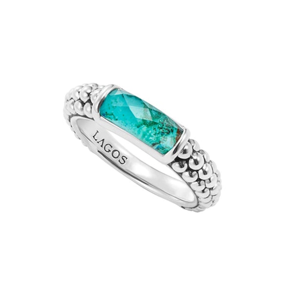 Lagos - SS Maya Chrysocolla Ring, 02-80527-CO7