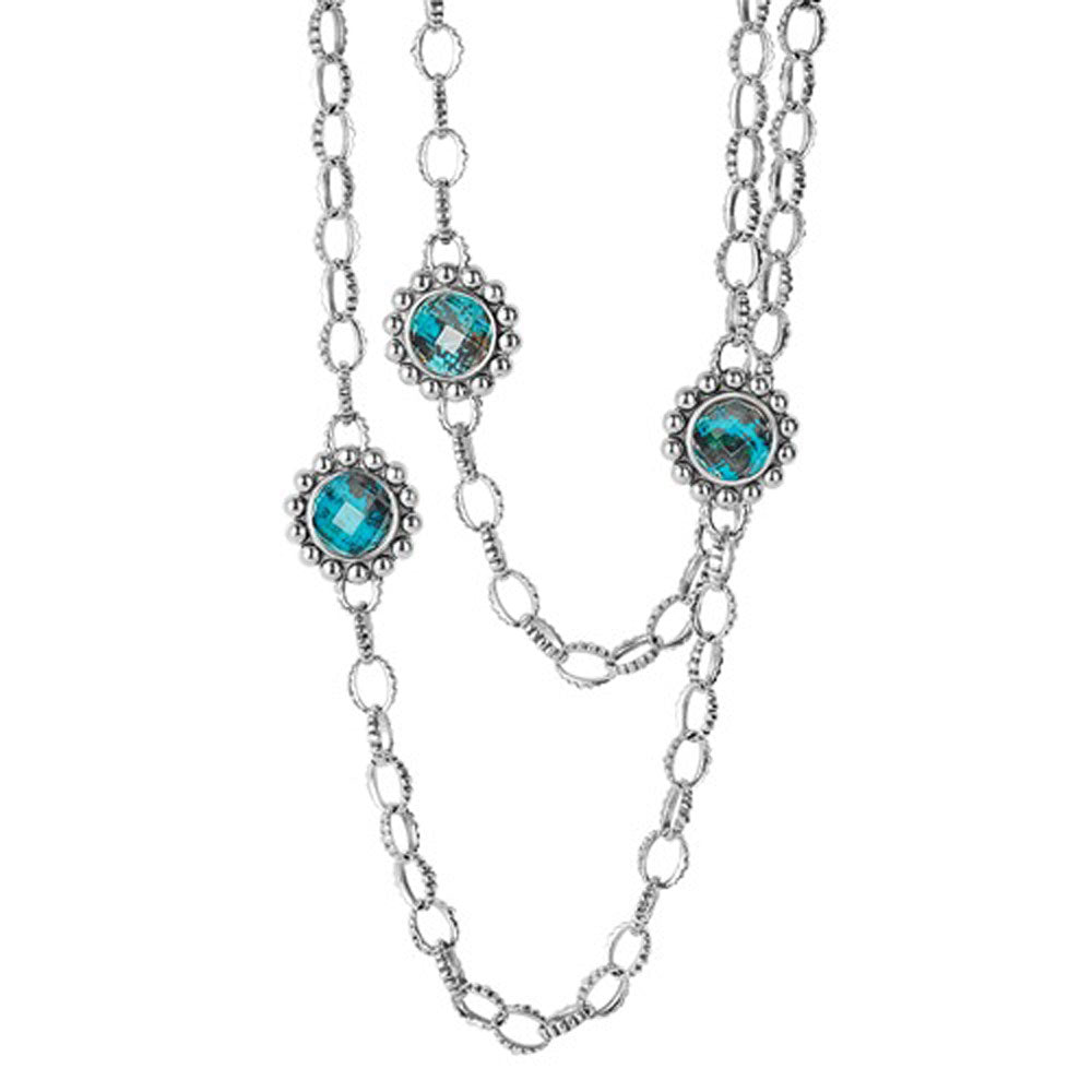 Lagos - SS Maya Chrysocolla Necklace, 04-80738-CO36