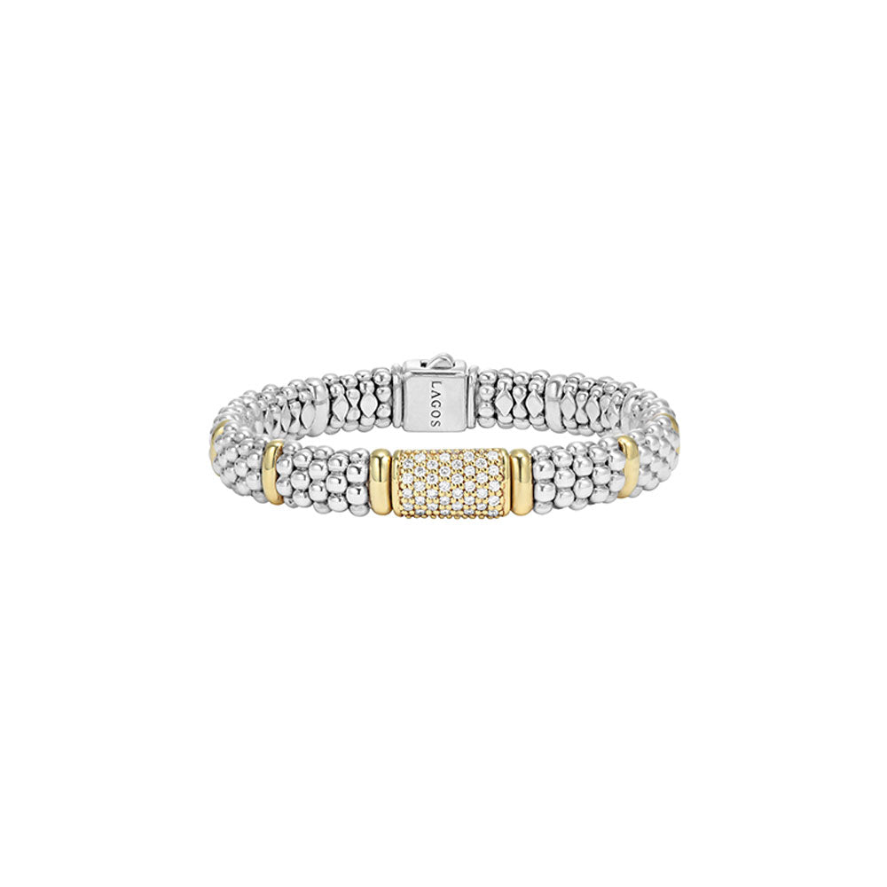 Lagos - SS/18k WG 0.72ctw Diamond and Caviar Bracelet, 05-80285-007