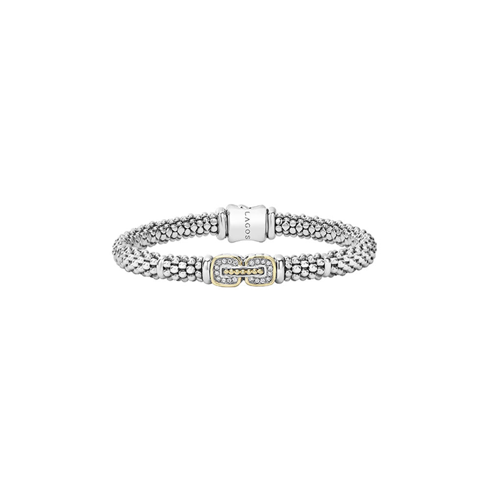Lagos - SS/18k WG 0.10ctw Diamond Cushion Bracelet, 05-81077-007