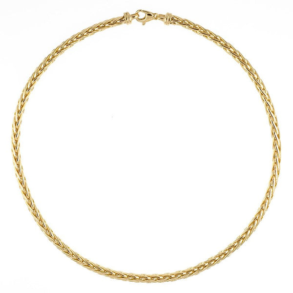 14K YG 4.8mm Wheat Necklace 18""