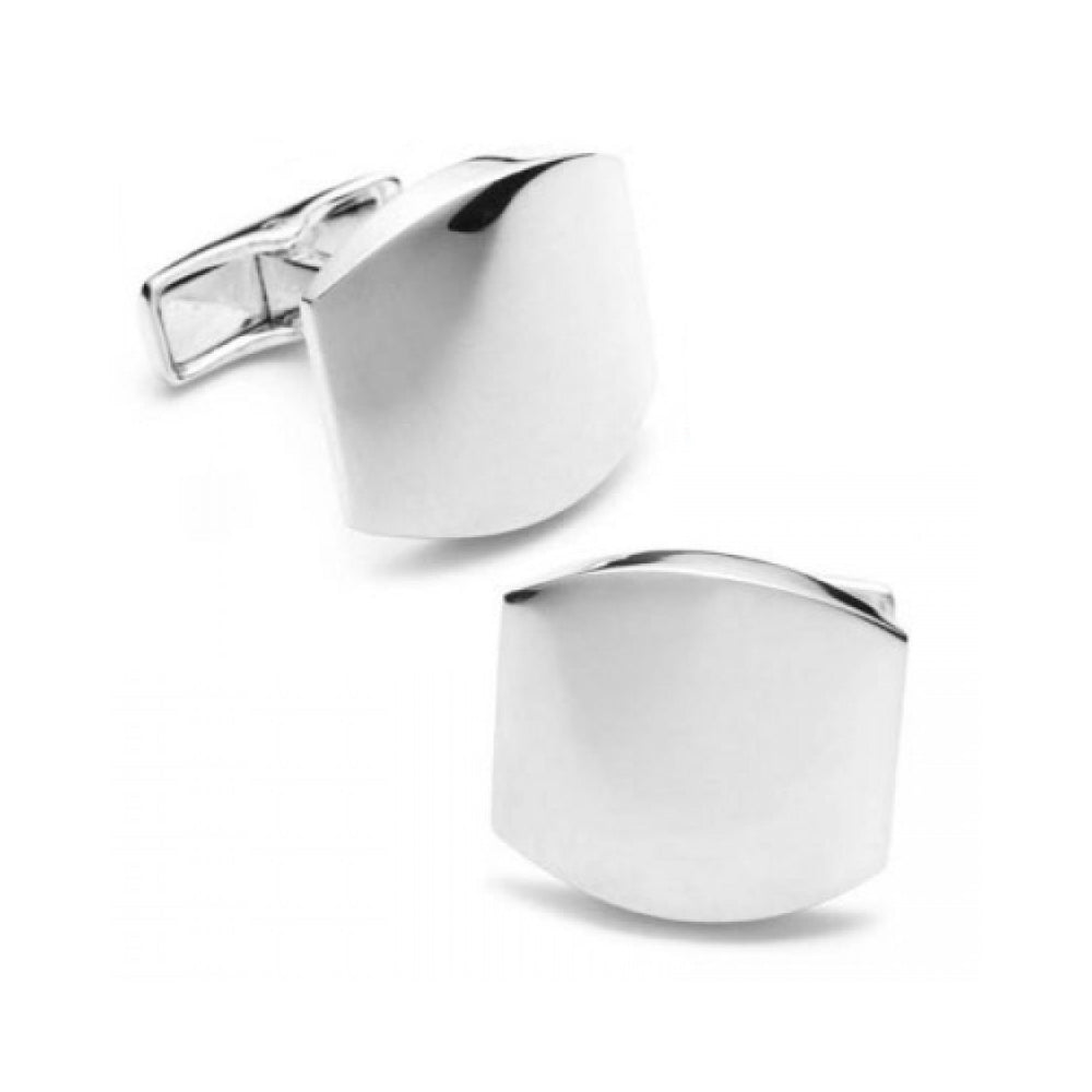 Sterling Silver Classic Engravable Cufflinks
