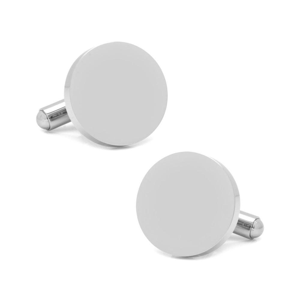 Stainless Steel Round Infinity Engravable Cufflinks