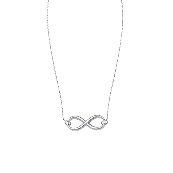 SS Infinity Necklace, 18""