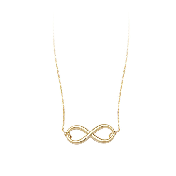 14K YG Infinity Necklace, 18""