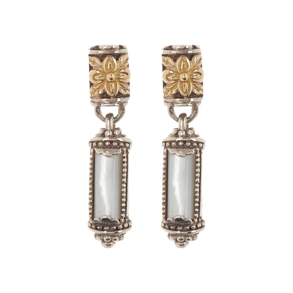 Konstantino - Ismene Short Drop Mother of Pearl Earrings, SKKJ515-117