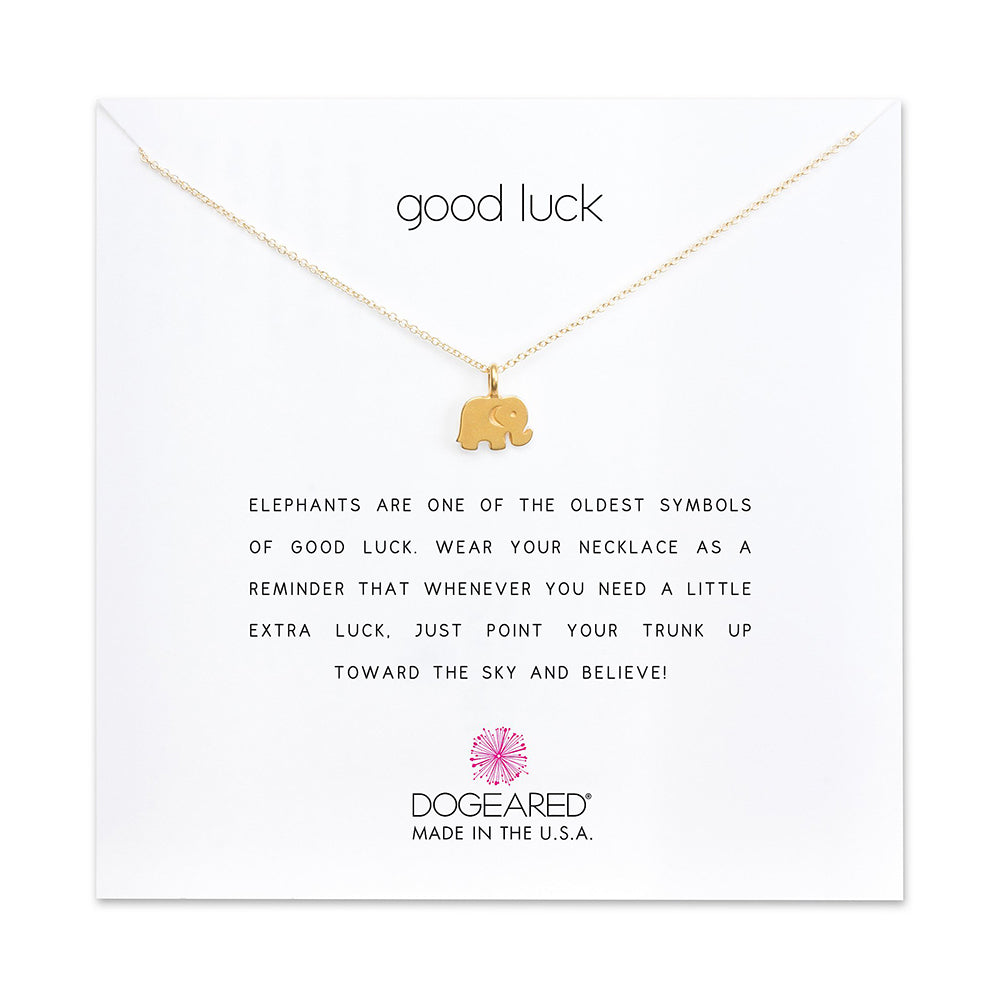 Dogeared Good Luck Pendant 16""