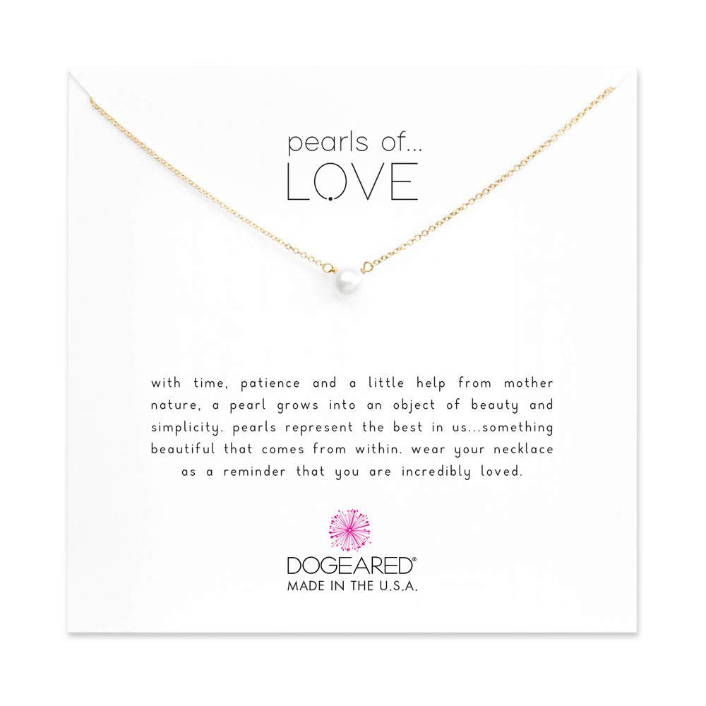 Dogeared Pearls of Love Pendant 16""