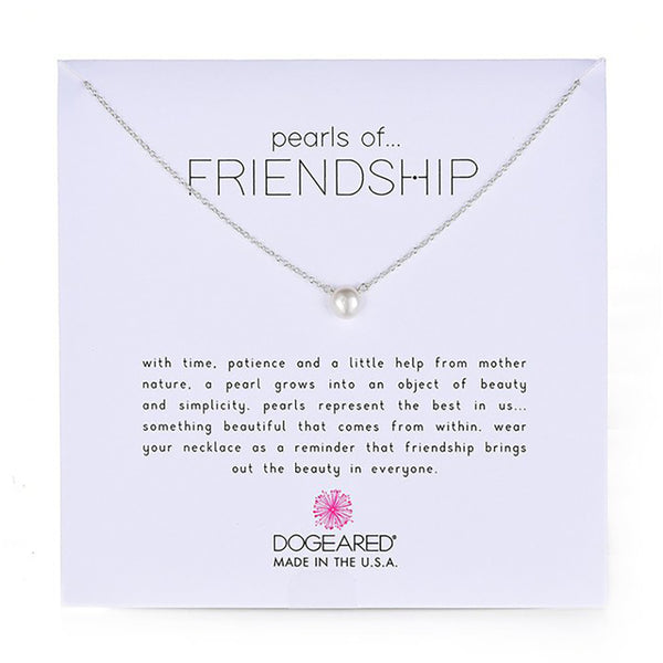 Dogeared Pearls of Friendship Pendant 16""