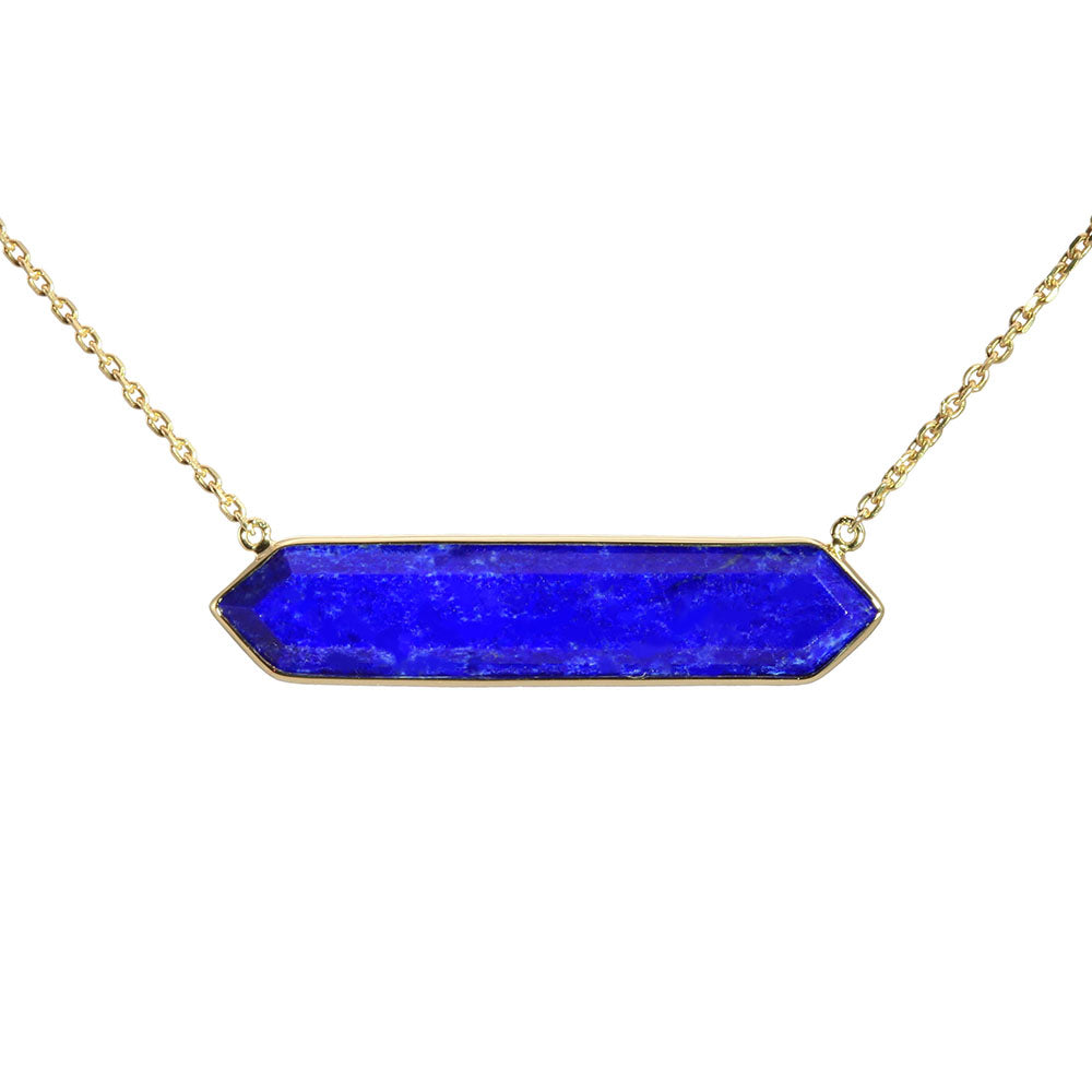 Olivia B 14K YG Lapis East-to-West Necklace