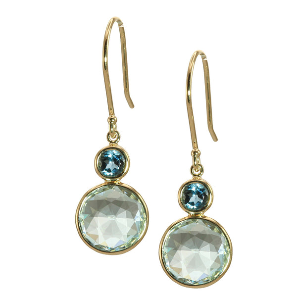 Olivia B 14K YG Sky Topaz with London Blue Topaz Dangle Earrings