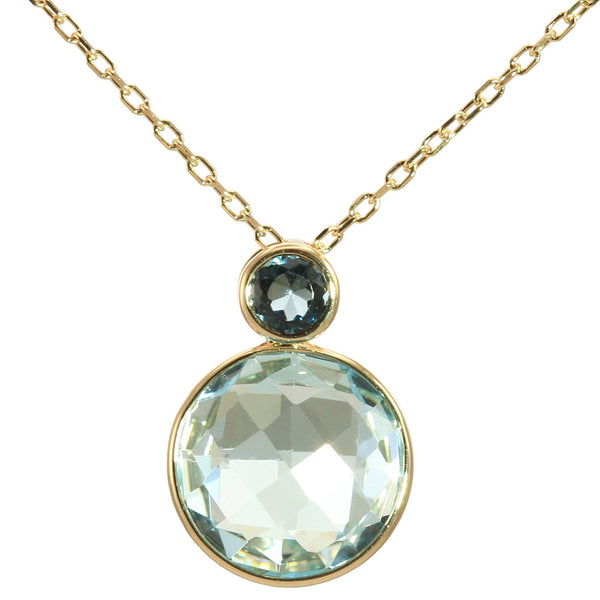 Olivia B 14K YG Sky Topaz with London Blue Topaz Necklace