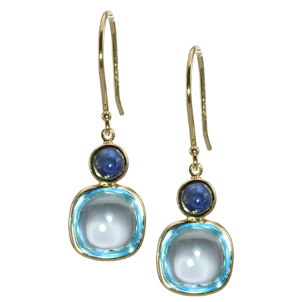 Olivia B 14K YG Sky Topaz with London Blue Topaz Earrings