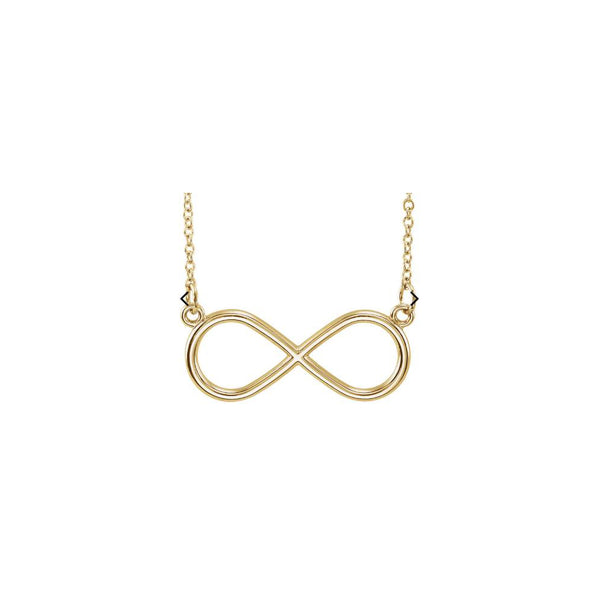 "14K Yellow Infinity-Inspired 18"" Necklace"