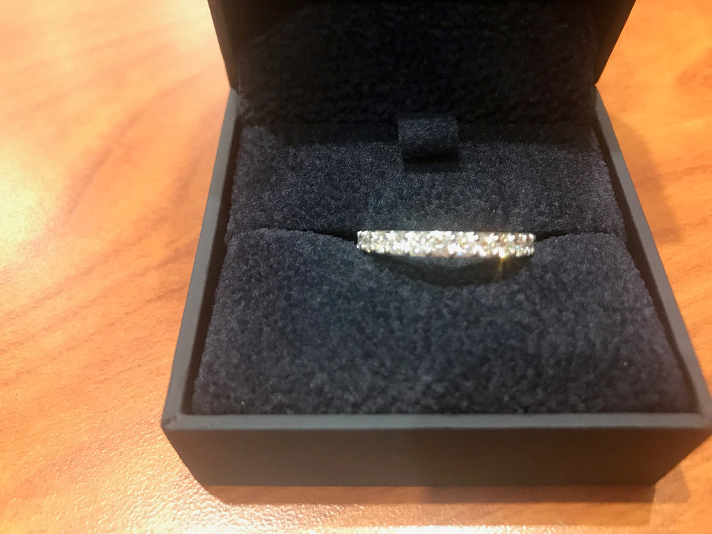 10476710- 14K WHTIE GOLD .75CTW H SI PRONG SET ANNIVERSARY BAND
