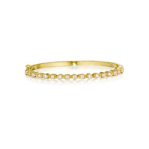 Penny Preville - 18k YG 1.02ctw Diamond Bangle, B7169G