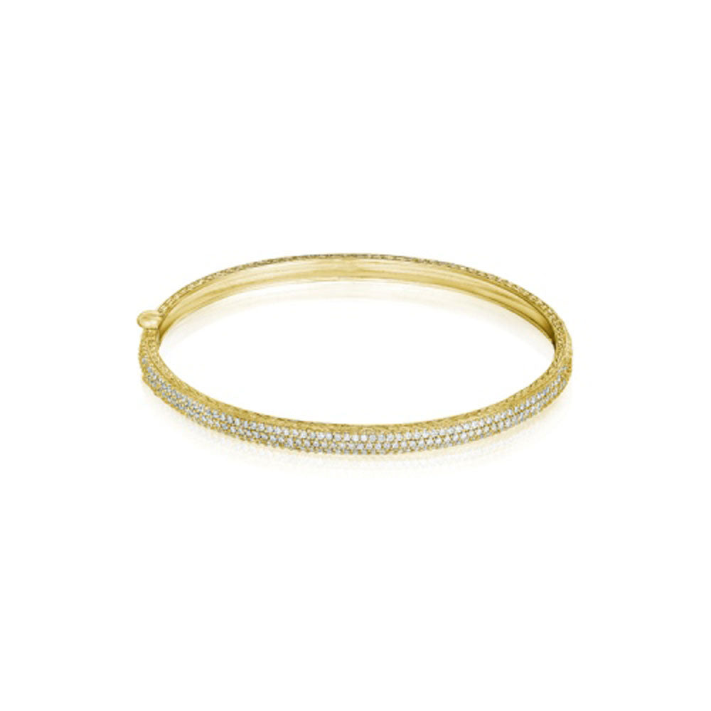 Penny Preville - 18k YG  1.05ctw Diamond Bangle, B7512G