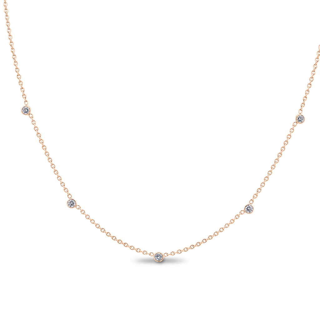 1aadc7727 25CTW Rose Gold Diamonds by the Yard Necklace – Bailey Banks ...