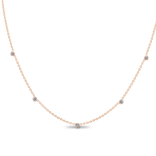 .25CTW Rose Gold Diamonds by the Yard Necklace