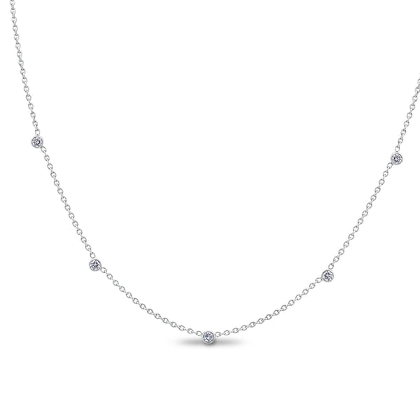 .25CTW White Gold Diamonds by the Yard Necklace