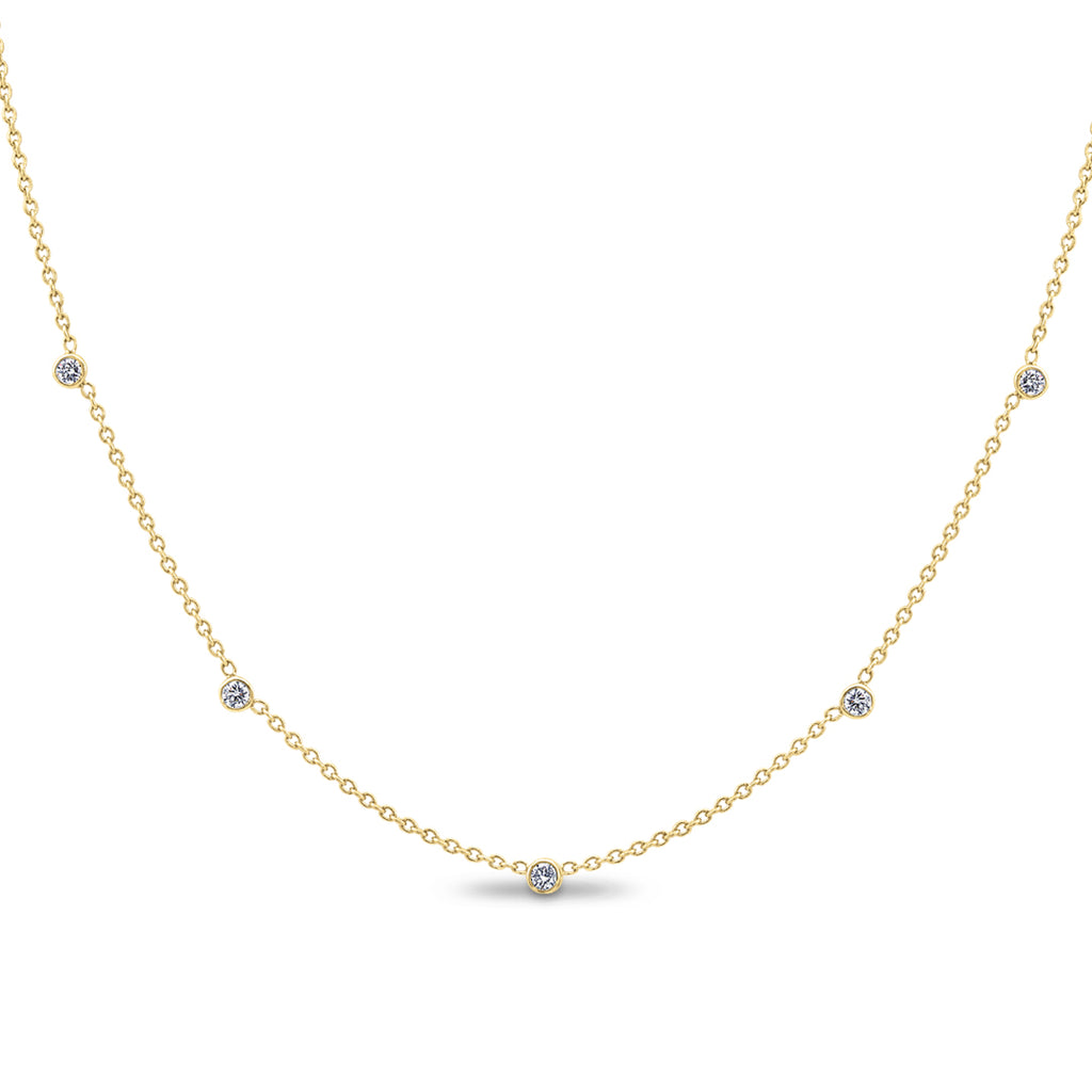 .25CTW Yellow Gold Diamonds by the Yard Necklace