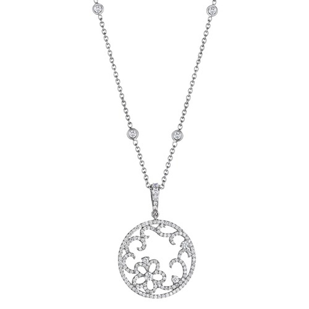 Penny Preville - 18K WG 0.98ctw Diamond Necklace, C6335W