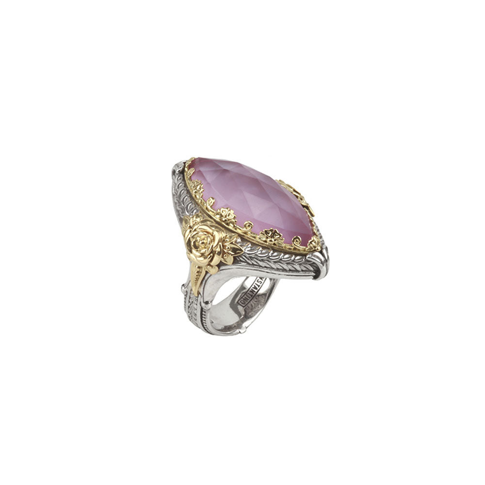 Konstantino - SS/18k YG Pink Mother of Pearl Ring, DMK2052-308