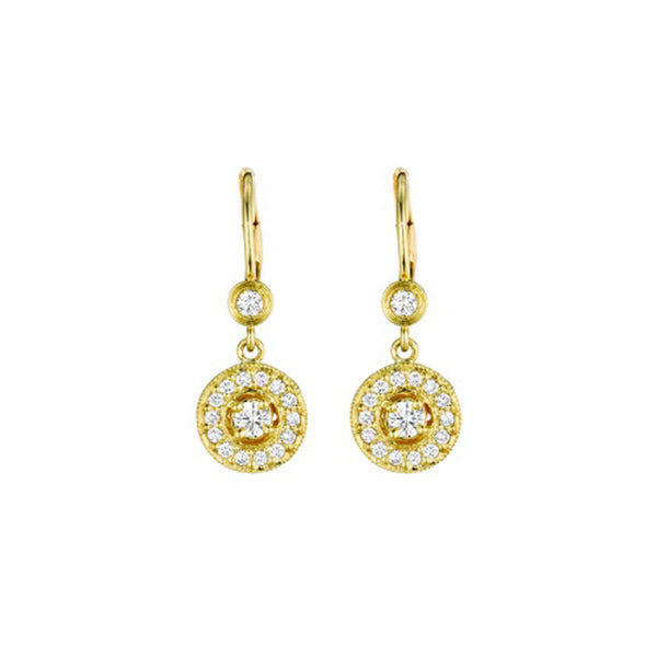 Penny Preville - 18k YG  0.62ctw Diamond Earrings, E1004G