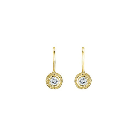 Penny Preville - 18K YG 0.20ctw Diamond Earrings, E1057G
