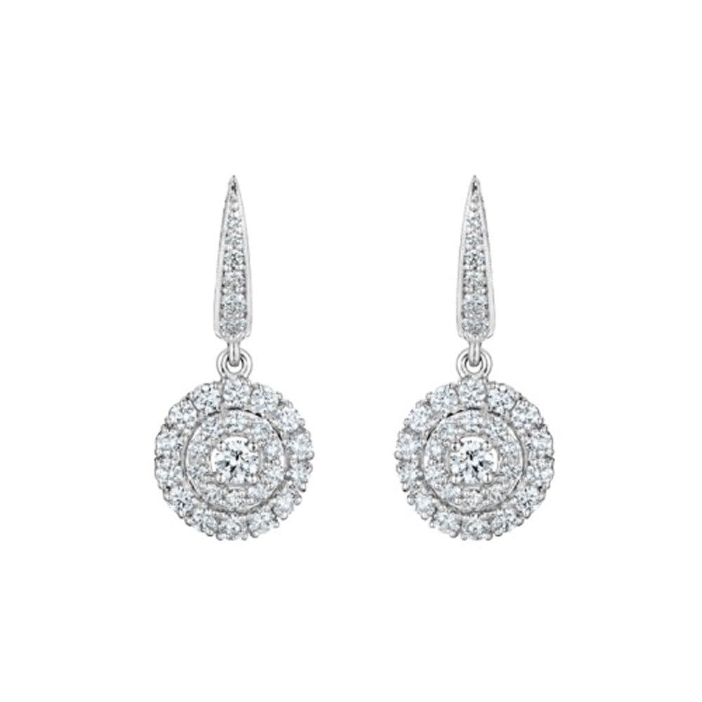 Penny Preville - 18k WG 1.36ctw Diamond Earrings, E1437W