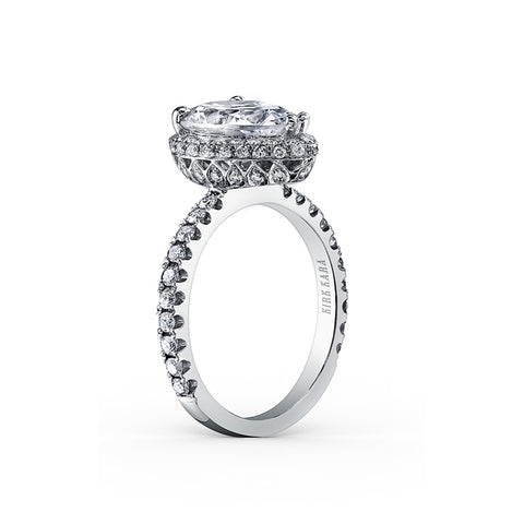 Kirk Kara Carmella - 18k white gold 0.65ctw Diamond Engagement Ring, K1005DI-R