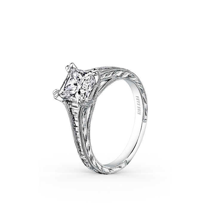 Kirk Kara Stella - 18k white gold 0.40ctw Diamond Engagement Ring, K1151DC-R