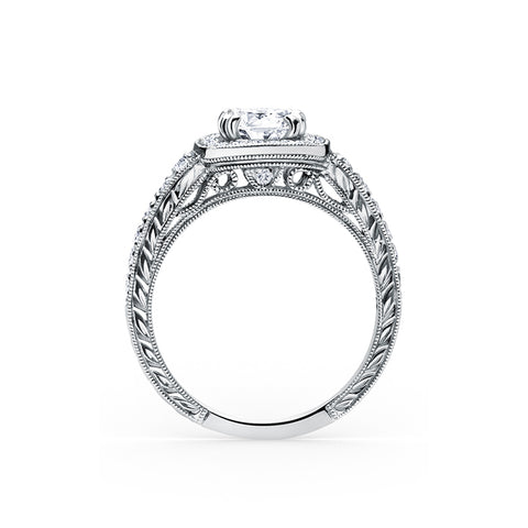 Kirk Kara Carmella - 18k white gold 0.43ctw Diamond Engagement Ring, K1170DC-R