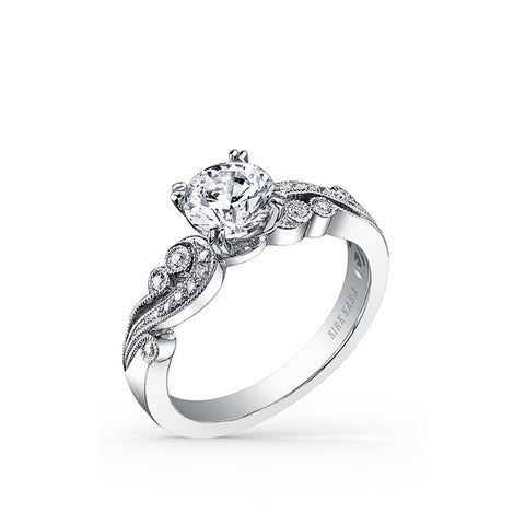 Kirk Kara Angelique - 18k white gold 0.11ctw Diamond Engagement Ring, K1250DC-R