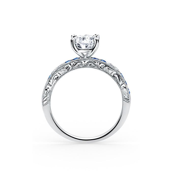 Kirk Kara Charlotte - 18k white gold 0.03ctw Diamond Engagement Ring, K1390SD-R