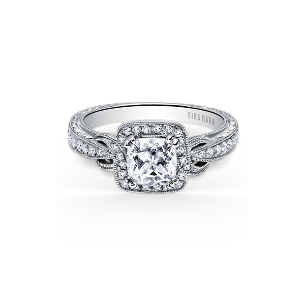 Kirk Kara Pirouetta - 18k white gold 0.25ctw Diamond Engagement Ring, K150C6S
