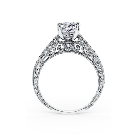 Kirk Kara Stella - 18k white gold 0.02ctw Diamond Engagement Ring, K161ENR