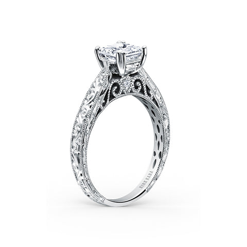 Kirk Kara Stella - 18k white gold 0.02ctw Diamond Engagement Ring, K161ENS