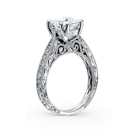 Kirk Kara Stella - 18k white gold 0.25ctw Diamond Engagement Ring, K161ESL